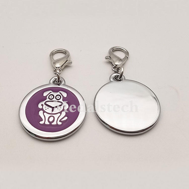 Dongguan Factory Price Eco-friendly Custom Engraved Laser Silicone Pup Shape ID Dog Tags for Decorate