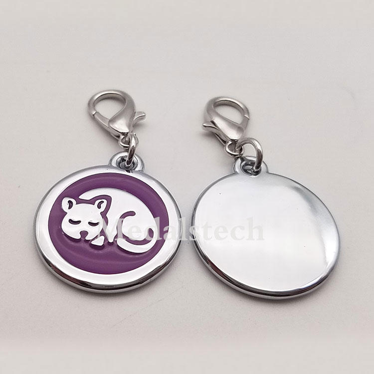 Wholesale Cat Tag In StockDog Id Name Epoxy Resin Dog Tag With Customized Logo