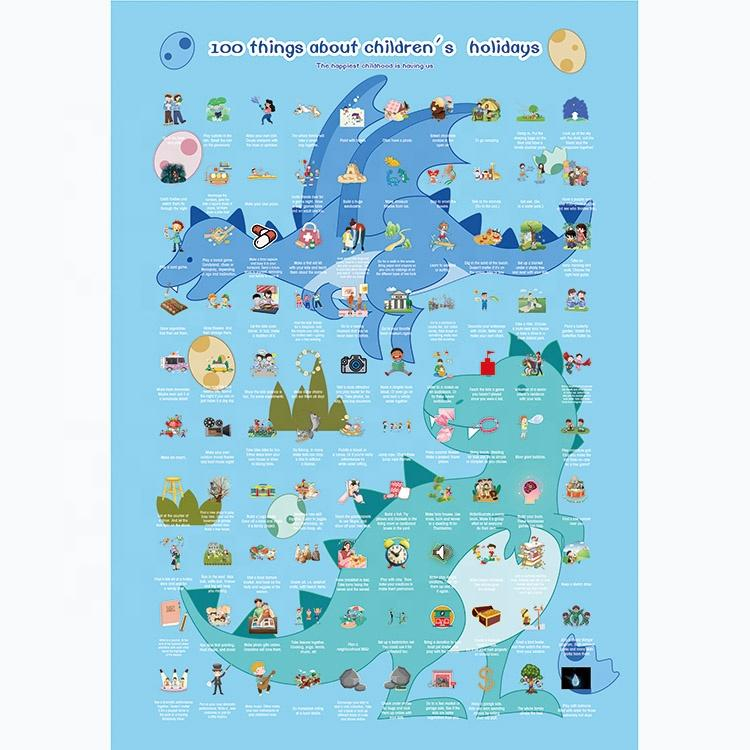 100 Meaningful Activities Bucket List Sctach Off Poster For Children