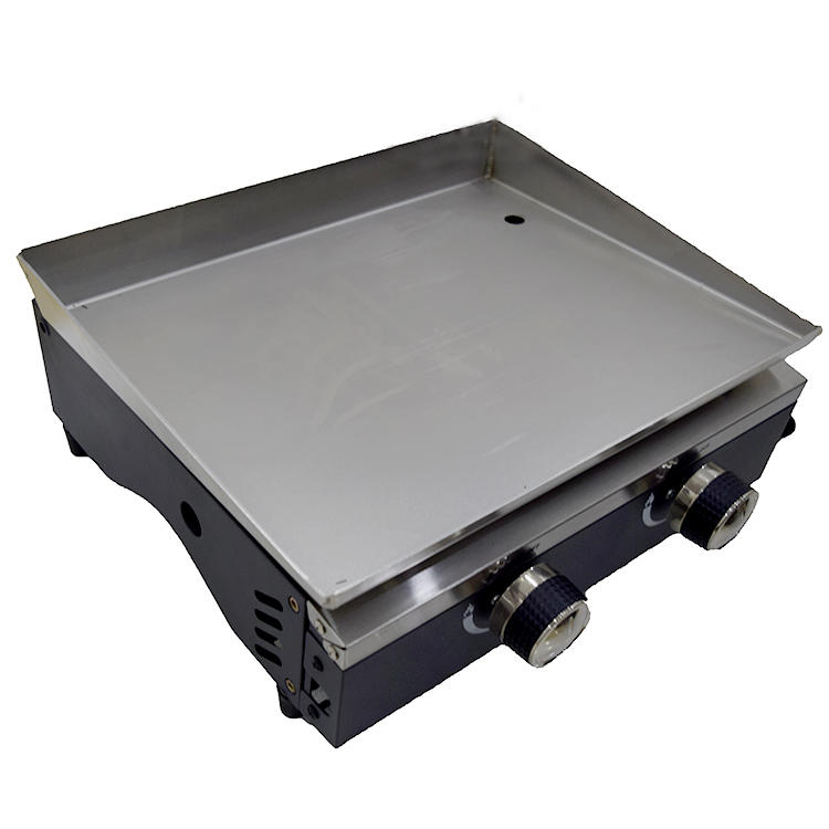 Stainless Steel Gas Grill Plancha 2 Burner Gas Barbecue Grill