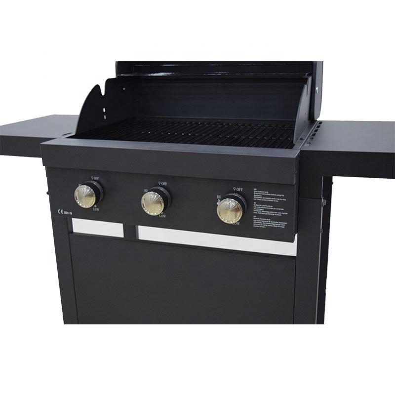 2021 Barbecue Grill Gas 3 Burners Villa BBQ Grills Smokeless BBQ Machine CE Approved