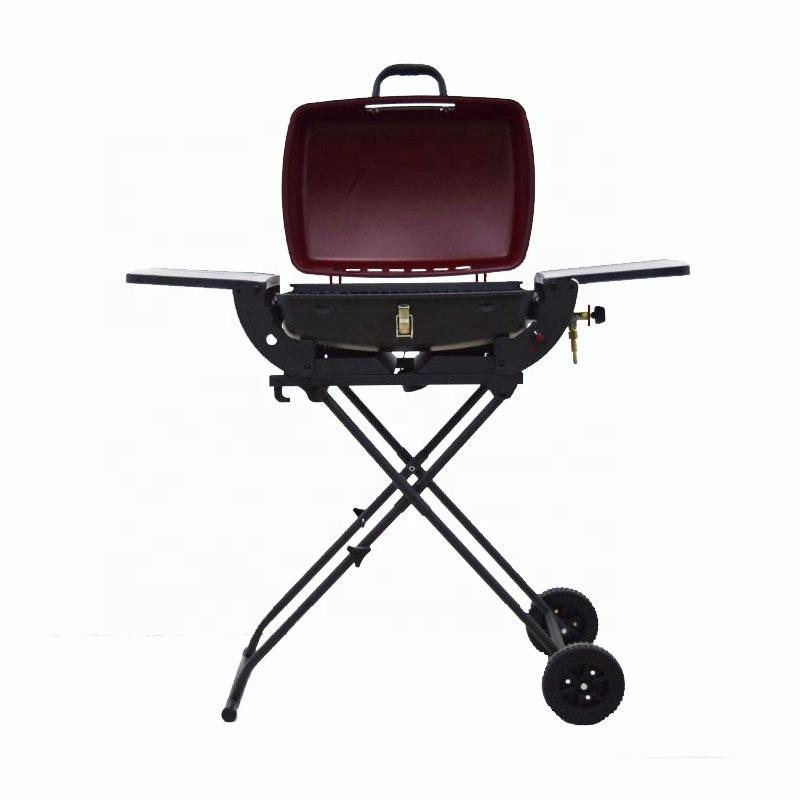 Outdoor Collapsible BBQ Gas Grill BBQ Trolley