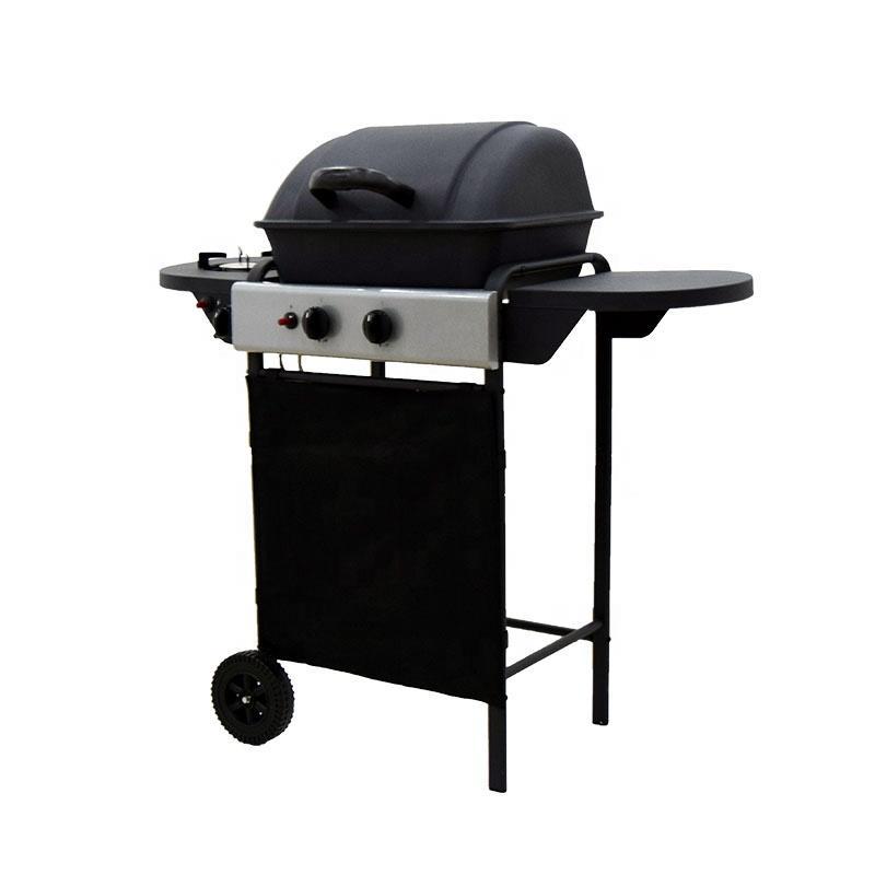 CE Approval 2+1 Burner Black Powder Coating Gas Barbecue Grills 6206A-3(With side burner)