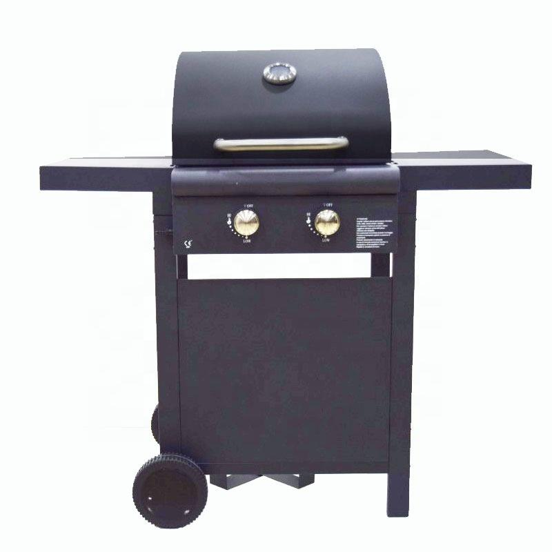 Black Powder Coating LPG 2 Burner Grill Gas BBQ 6602-2011A1