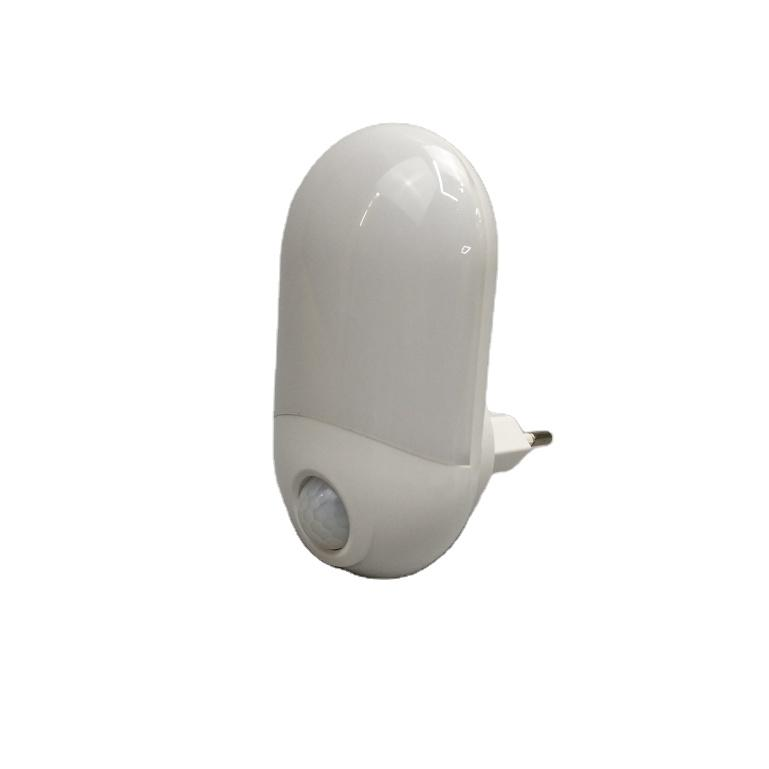 HWX-02 Intelligent light control human body infrared sensor LED night light plug in wall lamp