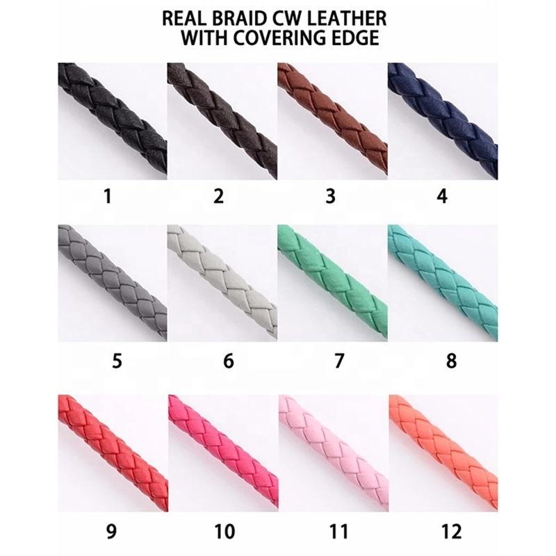 Best Price Custom Design Black Men Leather Surfer Bracelets
