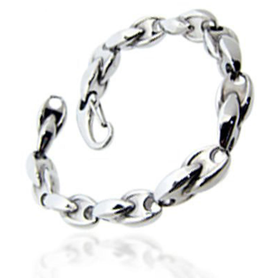 Ecological chic top fashion men chain and link bracelets stainless