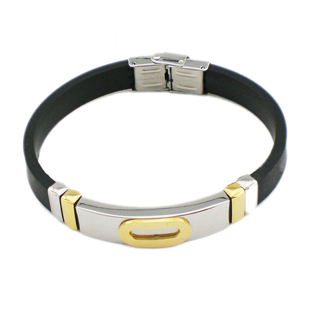 Fashion handmade costume titanium charger bracelet