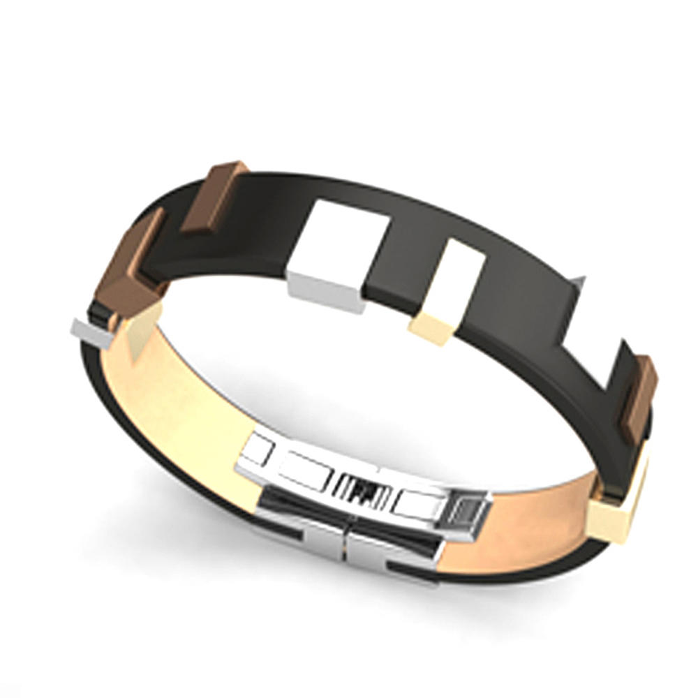 Cool titanium jewelry faux leather bracelet for appointment