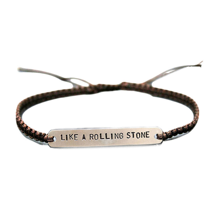 Fashion Engraved Wholesale Adjustable Leather Cord Bracelet
