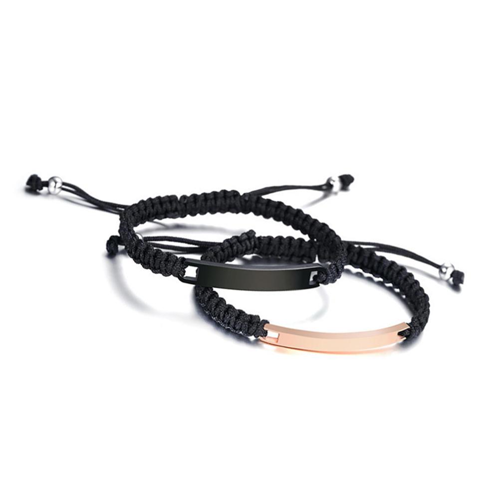 Fashion Engraved Wholesale Adjustable Leather Cord Bracelet