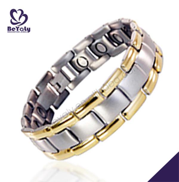 Shiny elegant men brand stainless steel jewelry