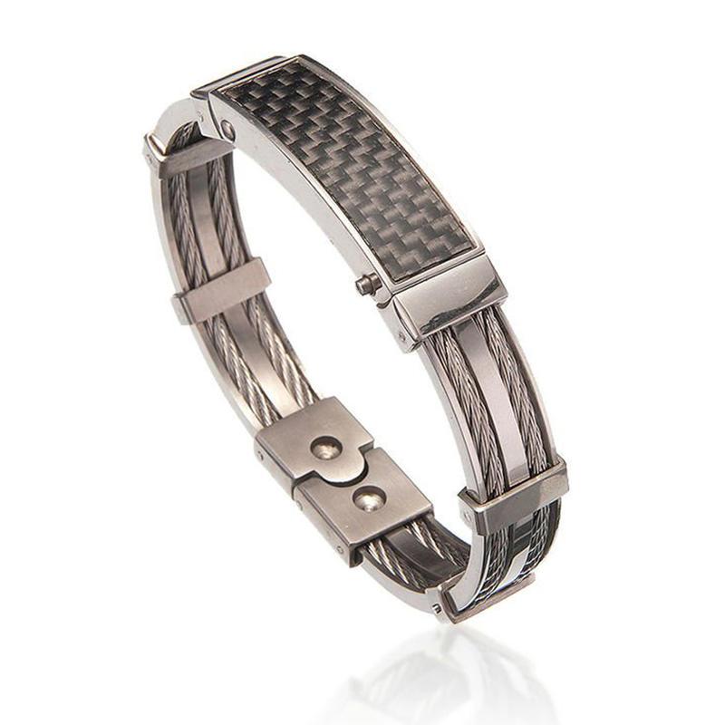 Plain style wholesale high end masculine mens bracelets