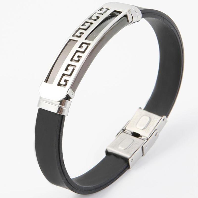 Latest Trends Meander Patterns Italian Mens Bracelets