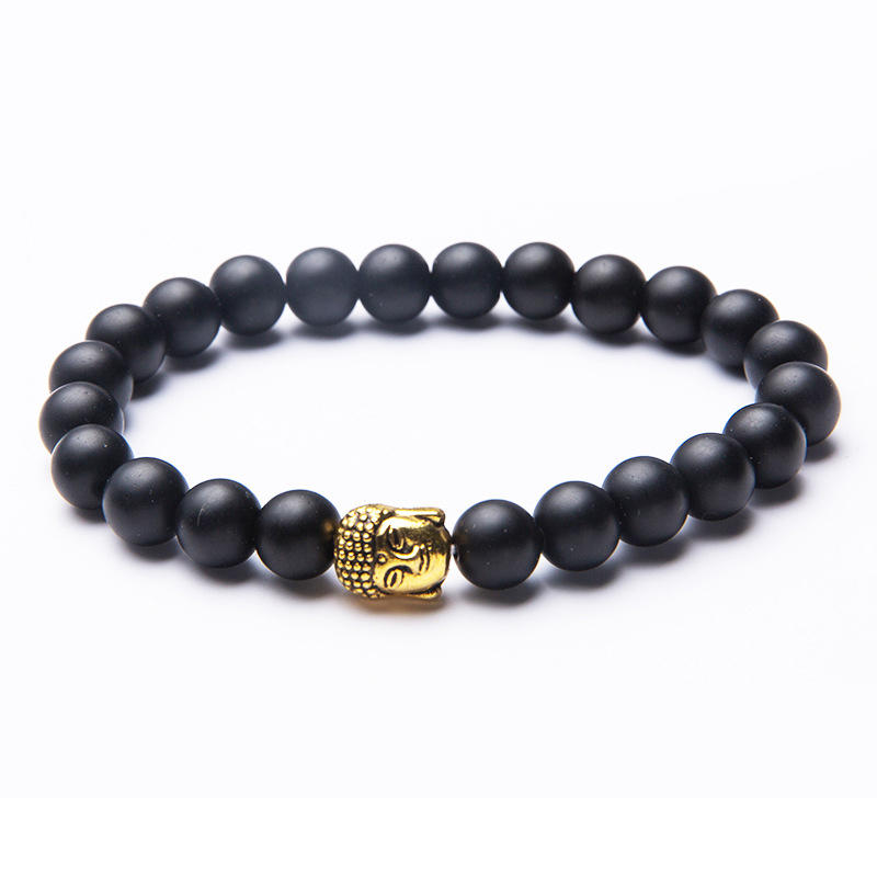 Exquisite Black Beads Cheap Buddha Bracelet