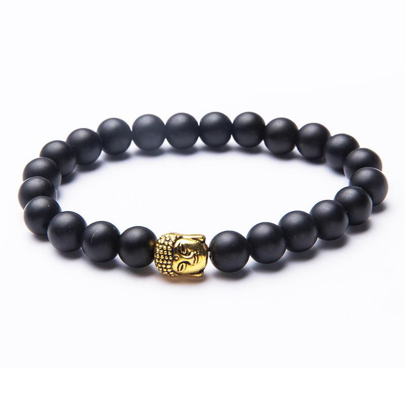 Exquisite Black Beads Cheap Buddha Bracelet