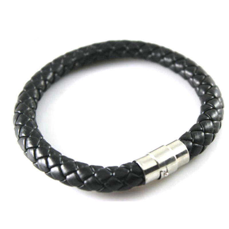 High quality woven design leather cuff bracelets supplies
