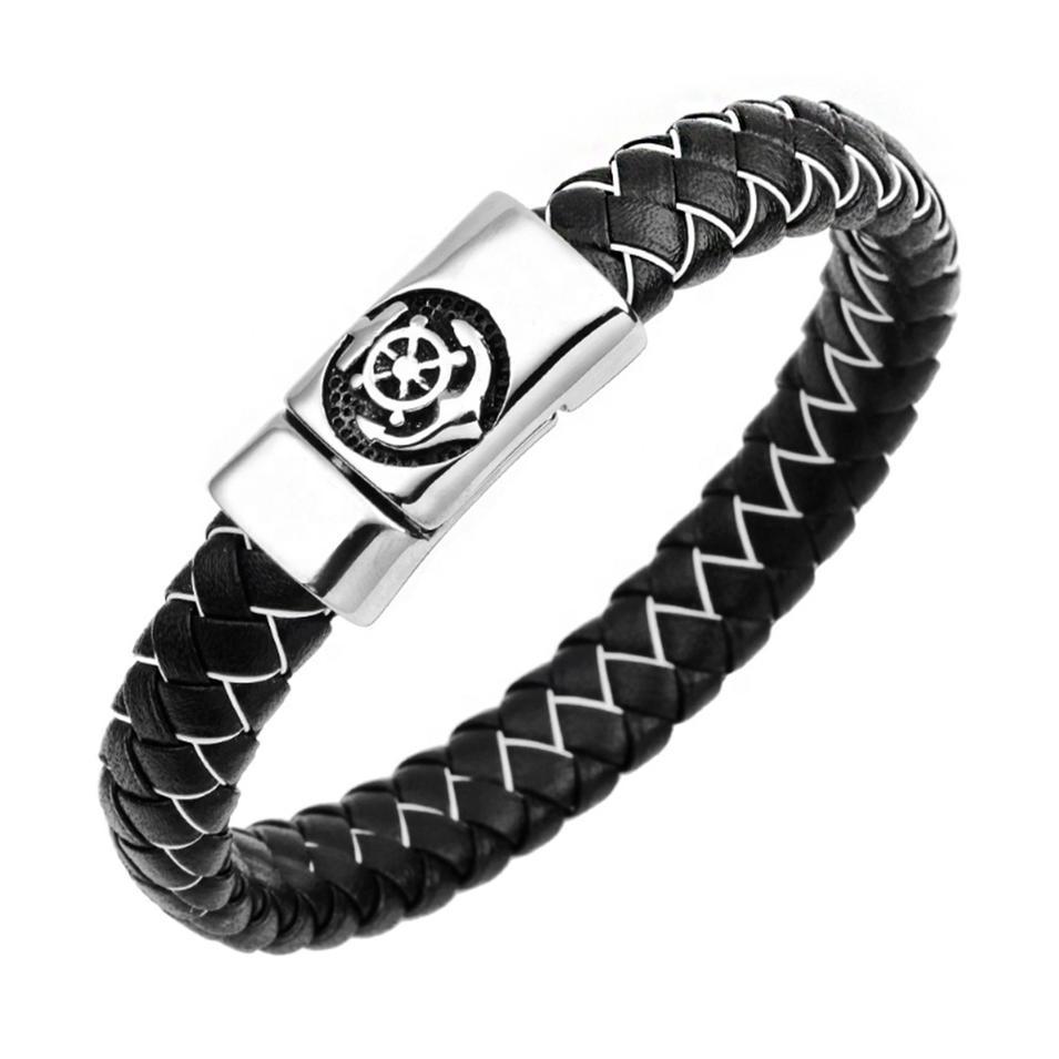 Extremely exquisite cute shiny eco-friendly titanium sailor bracelet
