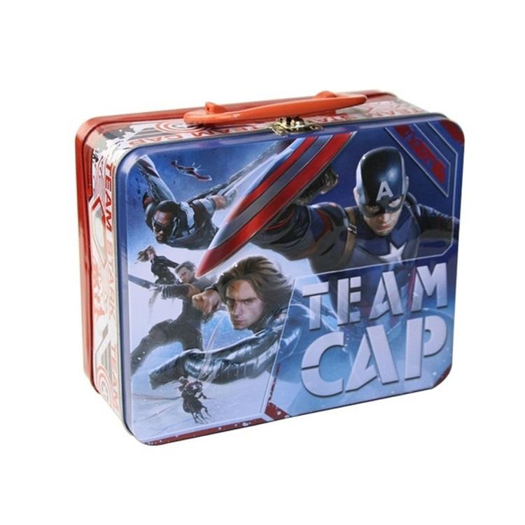small metal hinged lid tin box tin lunch box wholesale Food Packaging tin box