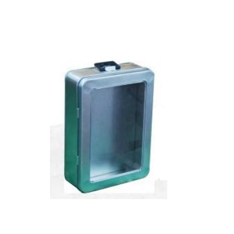 Bodenda new design portable hinged lid decorative storage chocolatetin box with the handle