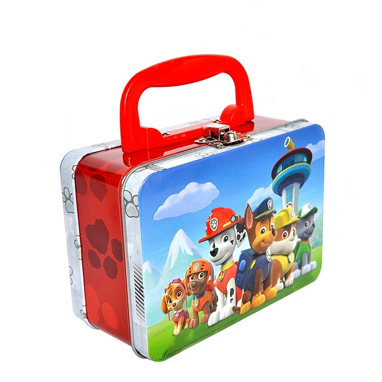 Kids Cartoon Stainless Steel Bento School Lunch BoxsThermal Metal Food Container With Handle