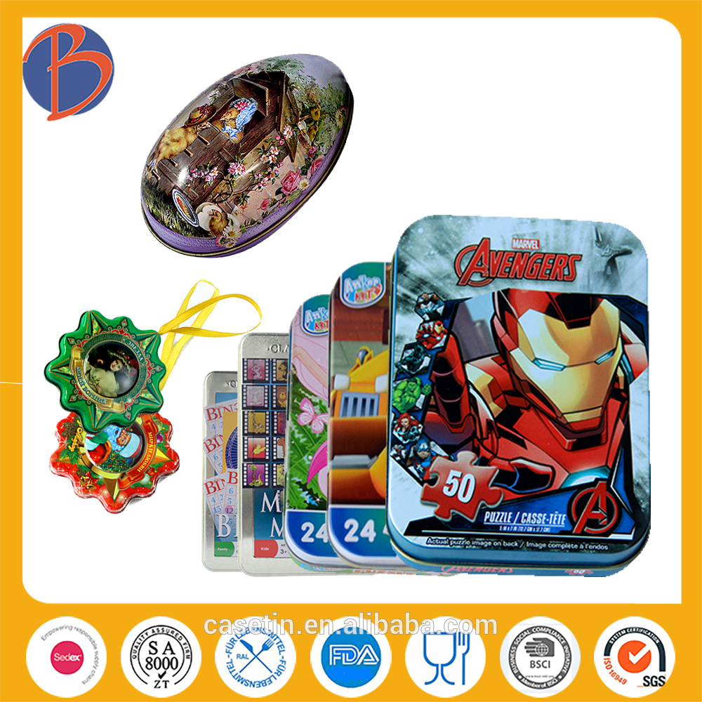 2014 new design food packaging tin box for kids