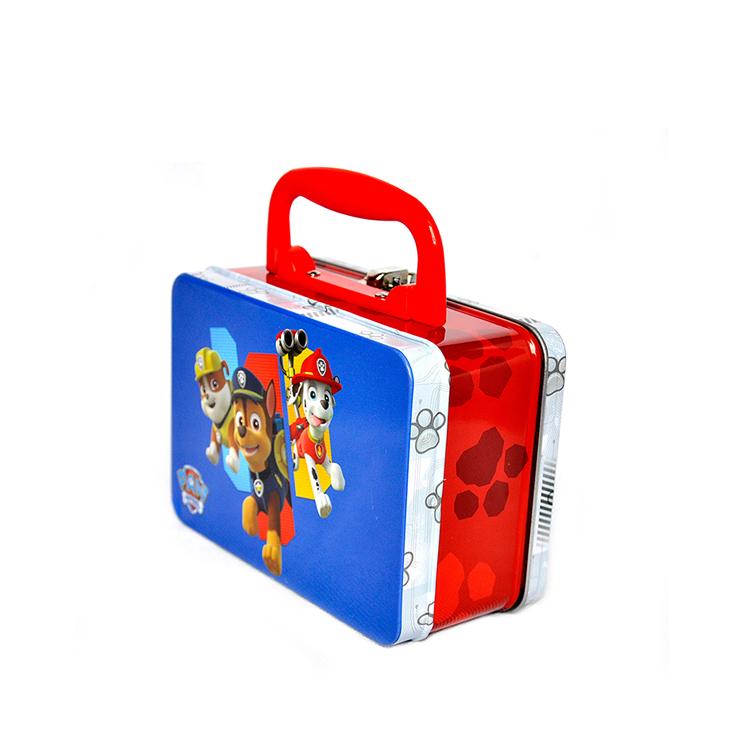 custom cute rectangular metal lunch box