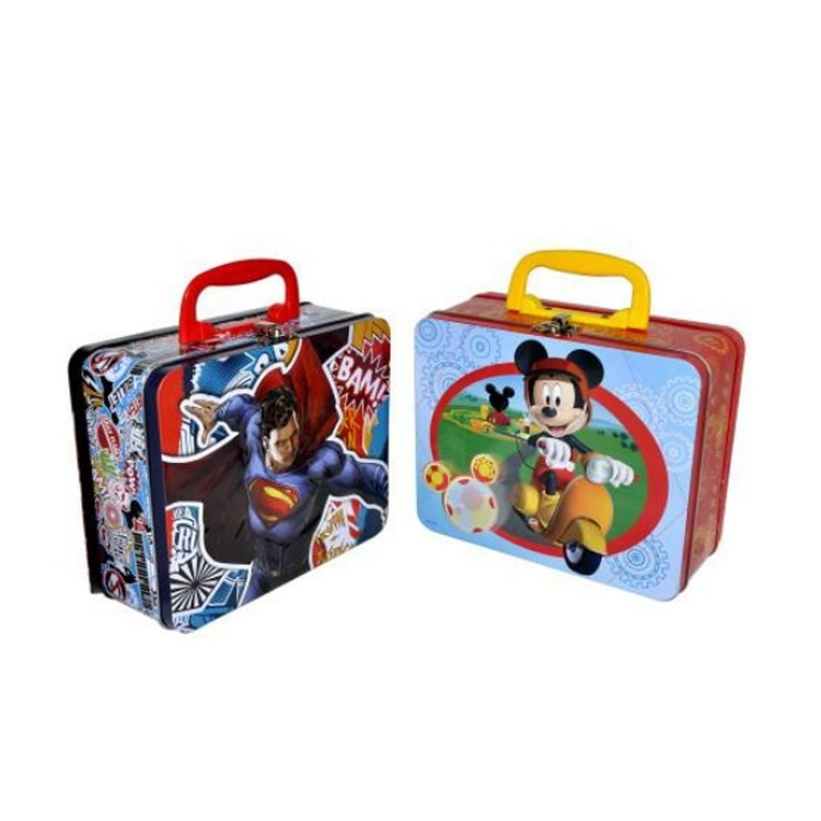 Custom Colorful Decorative Kids Metal Lunch Tin Box For Sale Snacks And Toy Packaging Boxes