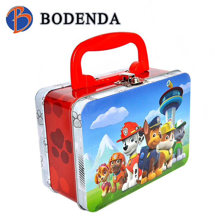 China custom handle rectangle student lunch box