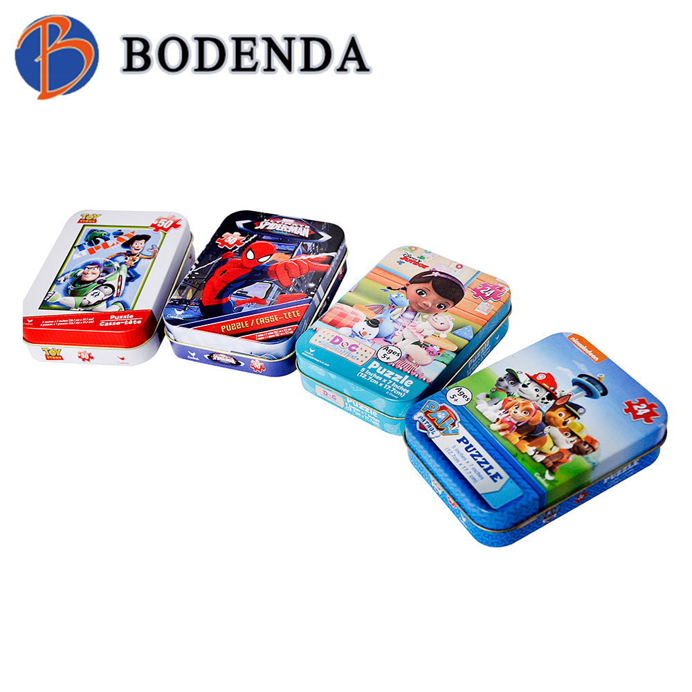 Custom rectangular candy tin box for sales