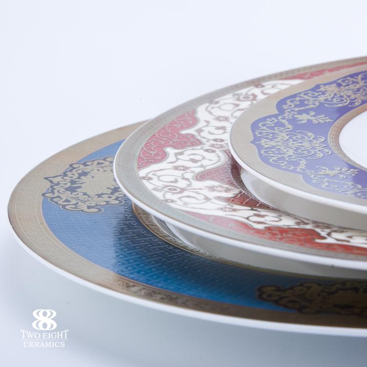 Dubai hotel & restaurant chinaware crockery Persian tableware ceramics plate