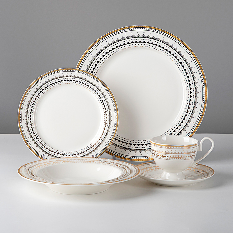 Best Quality Bone China Dinnerware, High Quality Royal Luxury Fine Bone China Dinner Set
