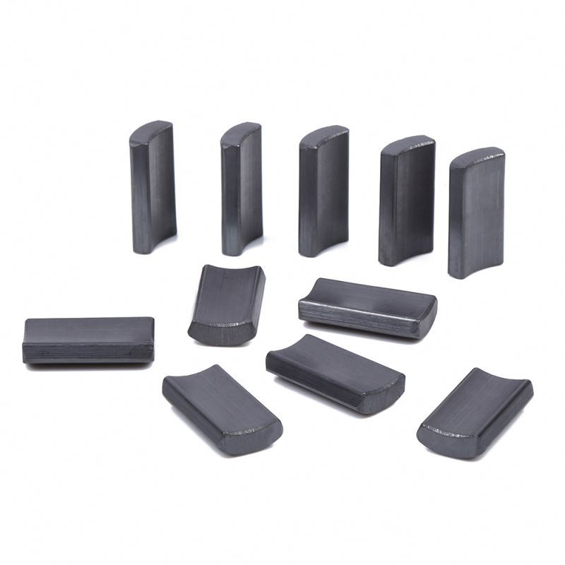 Full Grade Ferrite Arc Ceramic Curve Magnet For Motor