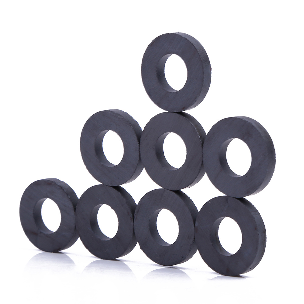 Customized strong ferrite magnetic round ring ceramic ferrite magnets