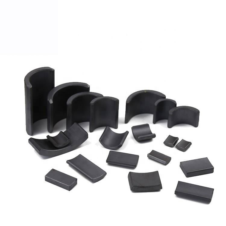 High quality high performancearc shape permanent hard ferrite for MicroMotor
