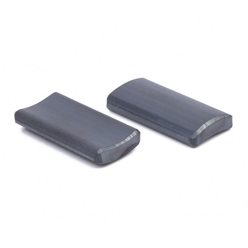 Arc Ferrite Magnet For Industrial Motors , Y30 Ferrite Arc Magnets For Dc Motor