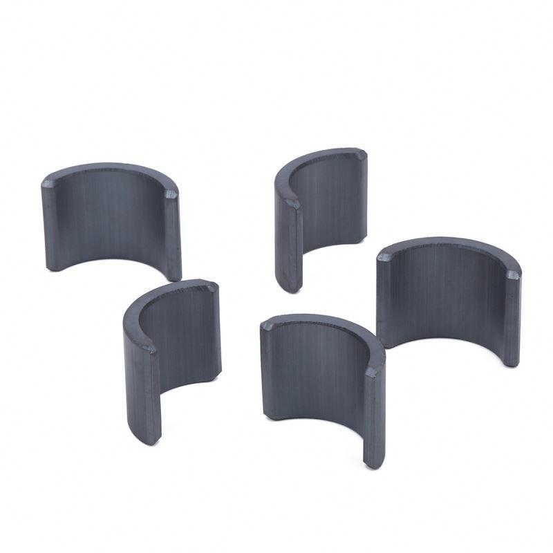 Full Grade Ferrite Arc Ceramic Curve Magnet For Motor , High Gauss Strong Arc Y10 Ferrite Magnet