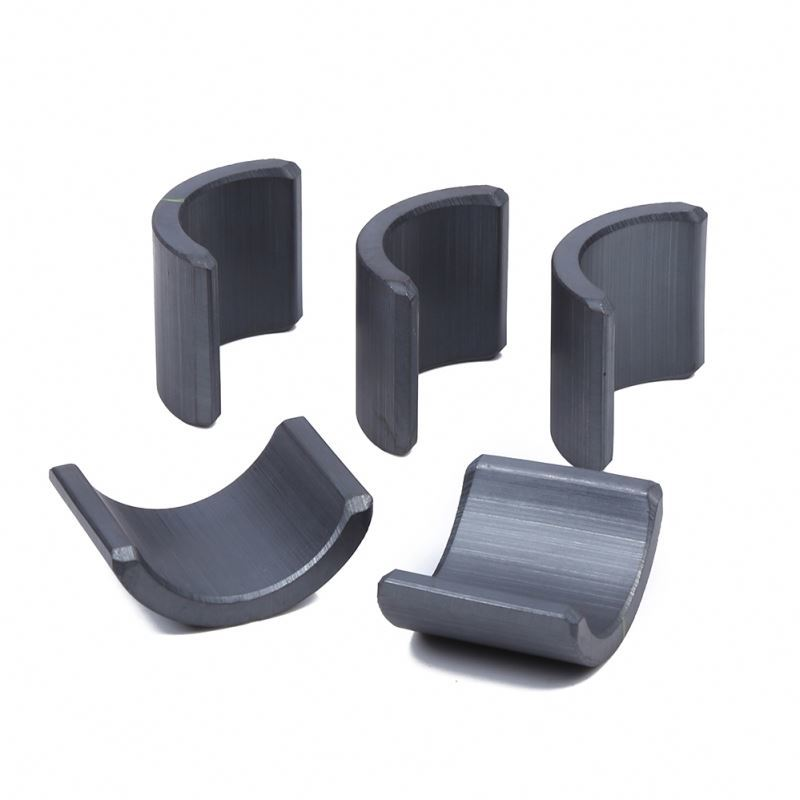 Rare Earth And Industrial Magnets Hard Ferrite Arc Magnets , Strong Ferrite Arc Magnets For Motorcycles