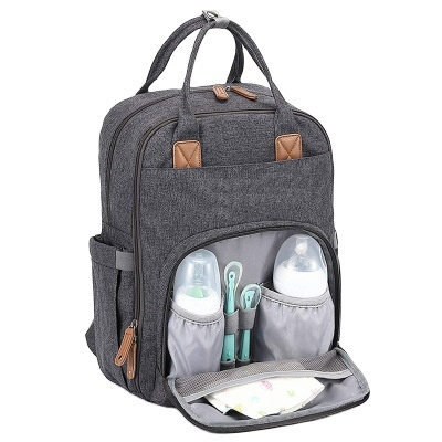 New mummy bag backpack and maternity nappy changing bag travel baby care diaper bags with stroller strap