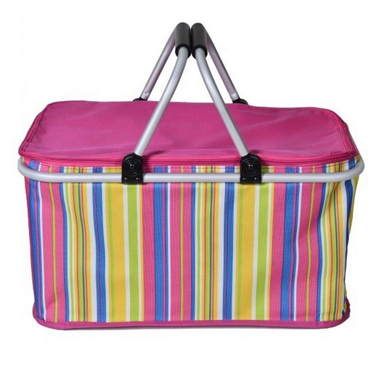 China Factory Wholesale Foldable Insulated Lunch Cooler Bag Picnic Basket