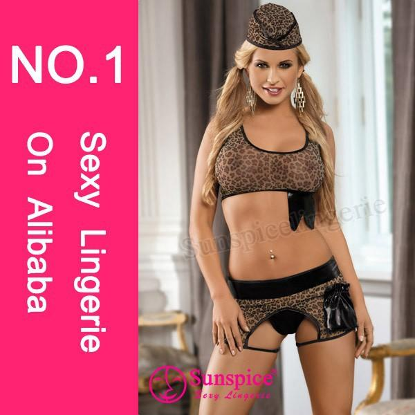 Wholesale South American free size spandex hot leopard sexy costume