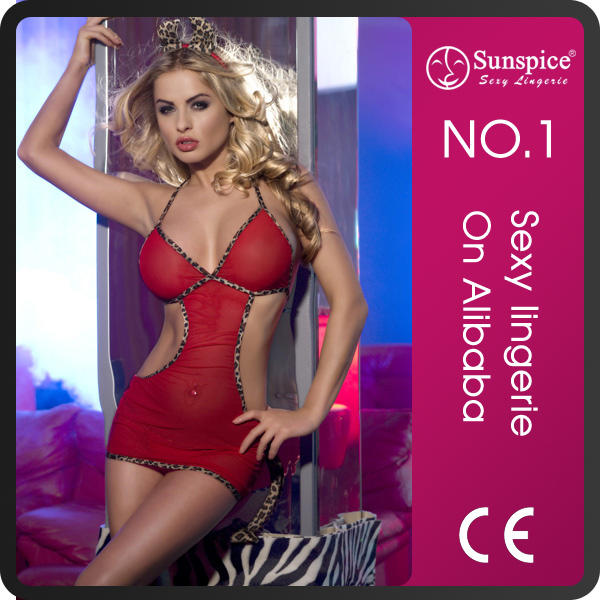 Wholesale sunspice lingerie red OEM&ODM service spandex and nylon big fox tail non-vibrating cosplay anal plug anal