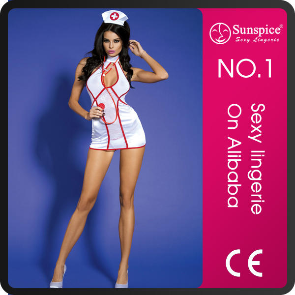 Sexy lingerie manufacturer quality guarantee sexy nurse backless costume dress