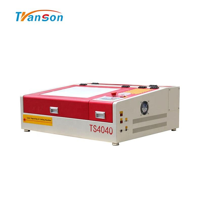 60W Mini CO2 Laser Cutting Engraving Machine TS4040 for Nonemetal Wood Leather Paper Acrylic Mdf Fabric