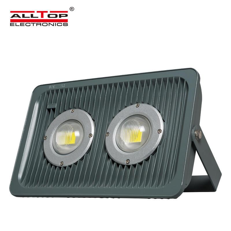 Cob waterproof aluminum 100w rgb rechargeable led flood light