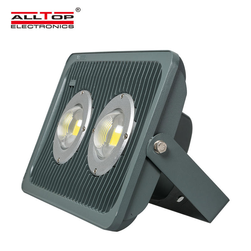 Cob waterproof aluminum 100w rgb rechargeable led flood light