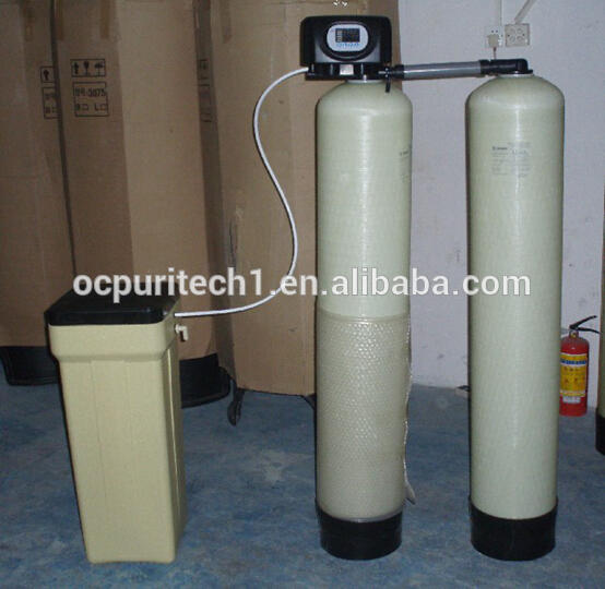 Removing boiler water hardness water softner