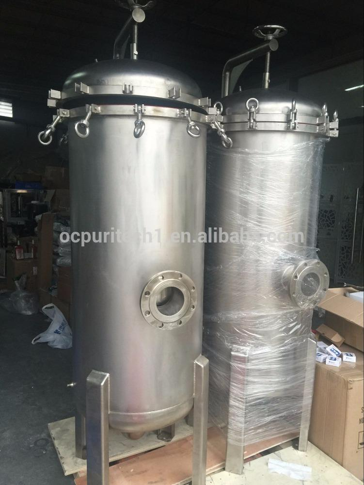 Factory price bag filter ss 304 with rocker arm