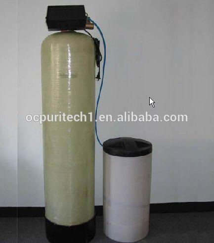 Removing boiler water hardness water softner