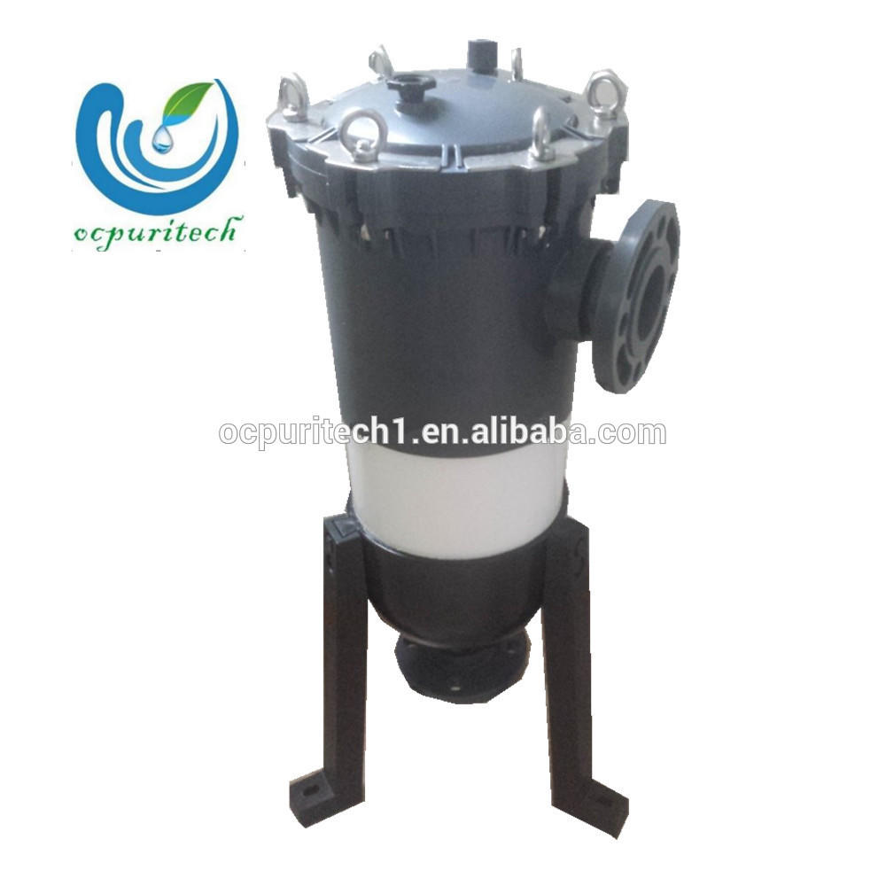 low cost water treatment part of water filter bag housing
